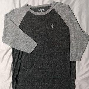 NWOT Men's Hurley 3 quarter sleeve t-shirt size XL
